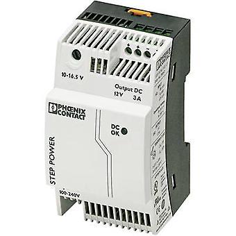Phoenix Contact STEP-PS/1AC/12DC/3 Rail mounted PSU (DIN) 12 V DC 3.3 A 36 W 1 x