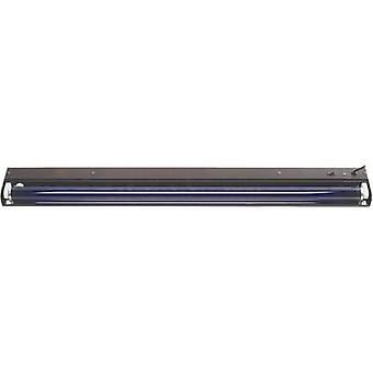 60cm metall UV fluorescerende rør sett 18 W svart