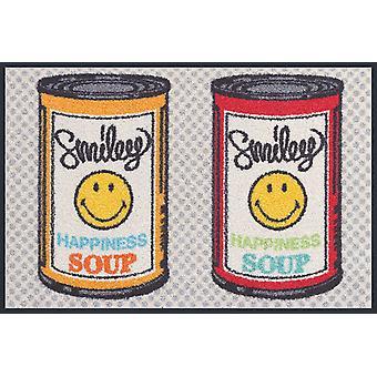 wash + dry smiley happiness soup kitchen rug washable tumble