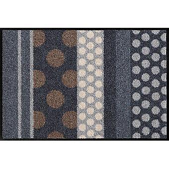 Salon Leeuw deurmat glamour Dots Grau wasbaar vuil mat