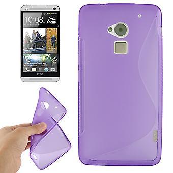 HTC の Max の 1 つのモバイル ケース TPU 保護ケース/T6 紫