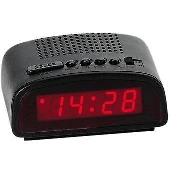 Atlanta 155/7 alarm network alarm clock with snooze digital black red digital alarm clock