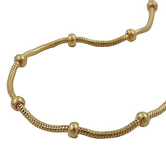 Necklace snake 1, 4mm with balls 3mm AMD 40cm