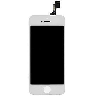 Ting sertifisert® iPhone 5S-skjerm (berøringsskjerm + LCD + deler) A + Kvalitet - hvit