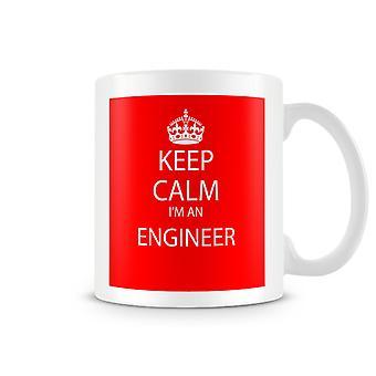 Keep Calm I'm An Engineer Printed Mug