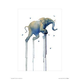 Elefant Kunstdruck Oliver Flores  Kleinformat 40 x 30 cm