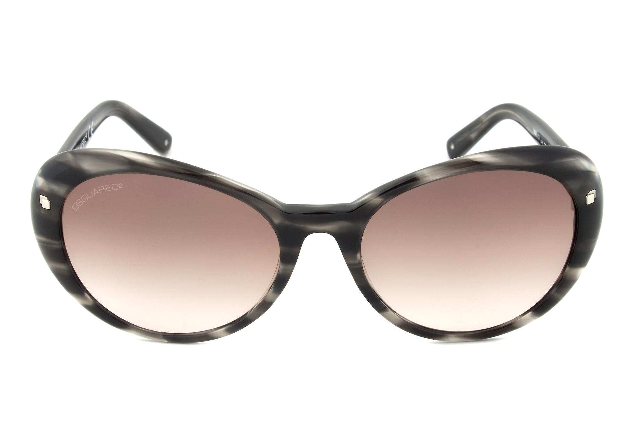 DSquared DQ0113 20B Sunglasses   Horn Frame   Brown Gradient Lens