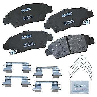 Bendix Premium Copper Free CFC1394 Ceramic Brake Pad (with Installation Hardware Front), 4 Pack