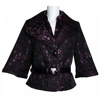 Tuzzi 3/4 Sleeve Spotted Jacket With Belt