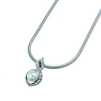 Oliver Weber Pendant Silk Rhodium Crystal