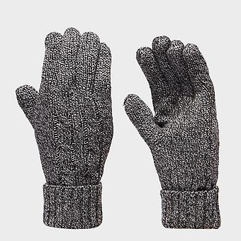 New Peter Storm Women's Cable Knit Gloves Grey