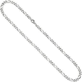 Figaro chain 925 Silver diamond 60 cm chain necklace silver chain carabiner