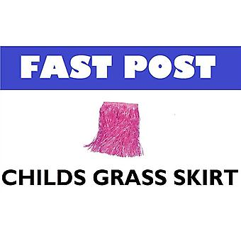 Childs różowy spódnica trawa.