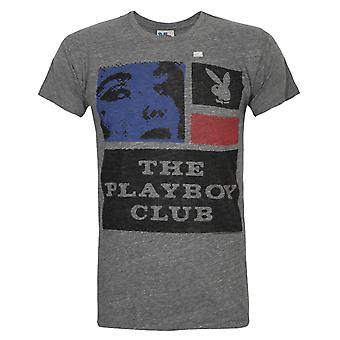 Junk Food Playboy 'The Playboy Club' Men's T-Shirt Grey