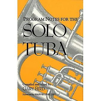 Programmhinweise für die Solo Tuba