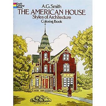 Les Styles de maison américaine of Architecture à colorier