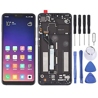 For Xiaomi MI 8 Lite repair display LCD complete unit touch with frame black replacement