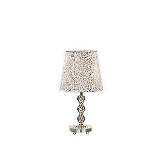 Ideal Lux - Königin Gold Finish mittlerer Tischlampe mit Glas Dekoration IDL077741