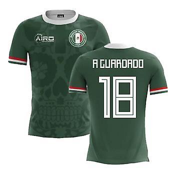 2020-2021 Мексика Главная Концепция Футбол Рубашка (Гвардадо 18)