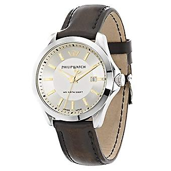 Philip Blaze quartz with analog Display and beige brown leather strap r8251165002