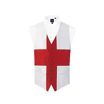Dobell Mens England St George Waistcoat Regular Fit 5 Button