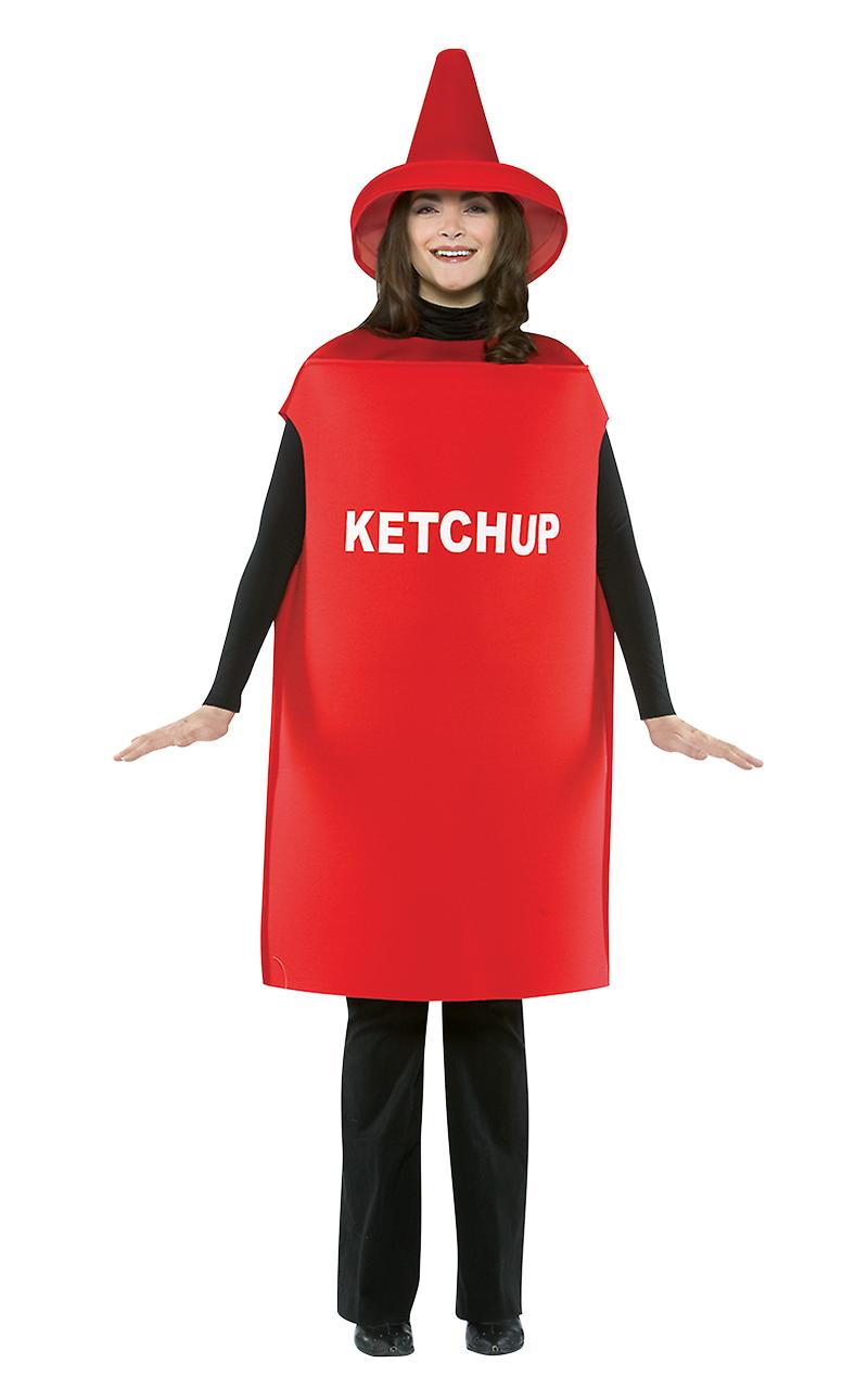 Adult Tomato Ketchup Food Novelty Fancy Dress Costume