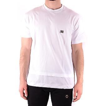 Les Hommes Urban Ezbc260004 Men's White Cotton T-shirt