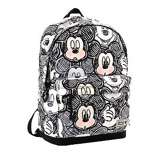 Classic Mickey Mouse Faces Black Backpack