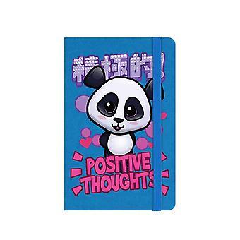 Handa Panda Positive Thoughts A6 Hard Cover Notebook
