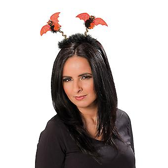 Fledermaus Haarreif schwarz-orange