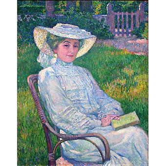 The Woman in White, Theo Van Rysselberghe, 50x40cm