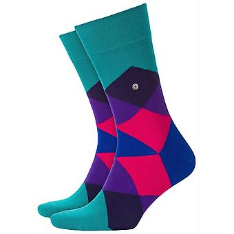Burlington Clyde Socks-Turquoise/Purple/Pink