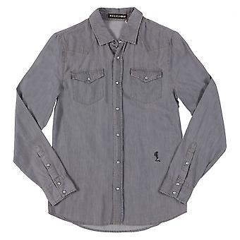 Religion Mens Clothing Religion Long Sleeved Exit Shirt,Grey