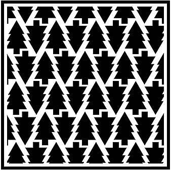 Creative Wyrażenia Sue Wilson 6 X 6 Szablony - Sosnowy Las