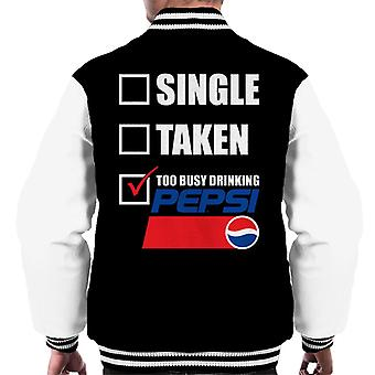 Pepsi Single Taken Too Busy Men's Varsity Jacket