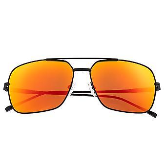 Sixty One Teewah Polarized Sunglasses - Black/Red-Yellow