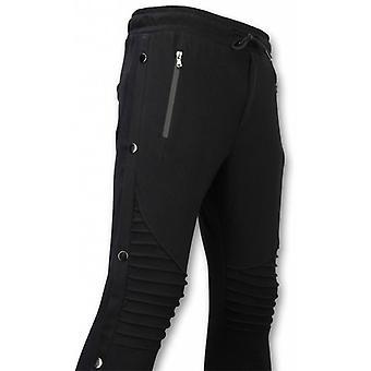 Casual jogginpants-knapper jogging bukser-svart