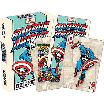Playing Card - Marvel - Captain Amercia Poker Licensed Gifts Toys 52250