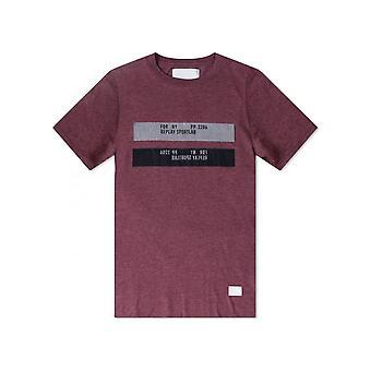 Replay Jeans Replay Sportlab T Shirt Burgundy