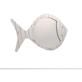 Amadeus White Fish Mirror (Decoratie , Spiegels)