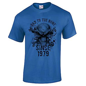 Men's 40th Birthday T-Shirt Bad To The Bone 1979 Prezenty dla niego