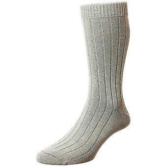 Pantherella Raynor Egyptian Cotton Socks - Light Grey Mix