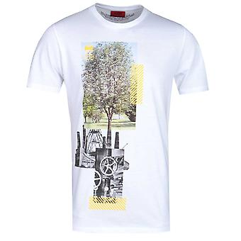 HUGO Dennai Recycled Material White T-Shirt