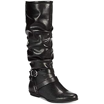 White Mountain Womens FairField Almond Toe Mid-Calf Riding Boots