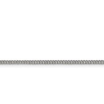 Stainless Steel Polished Fancy Lobster Closure 2.25mm Round Curb Chain Necklace - Length: 16 to 24