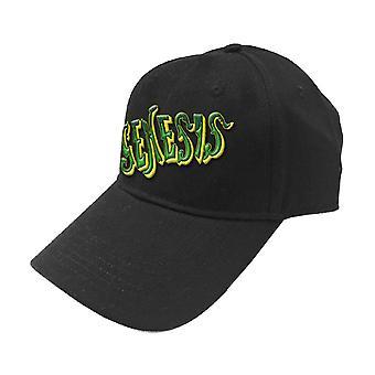 Genesis Baseball Cap Green Classic Band Logo nouveau Black Strapback officiel