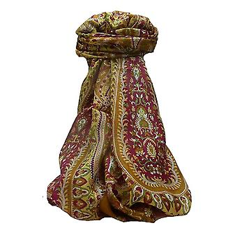 Mulberry Silk Traditional Long Scarf Karita Chestnut par Pashmina et soie