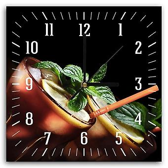 Decorative Clock With Picture, Cuba Libre Cocktail