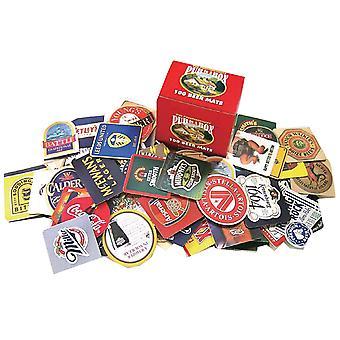 Pub i en boks 100 Beer Mats utvalg (PP)