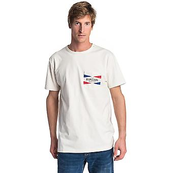 Rip Curl On Da Gun Short Sleeve T-Shirt en blanc off
